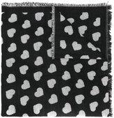 Twin-Set woven heart scarf