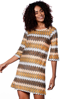 MC2 Saint Barth Gold Knitted Mini Dress