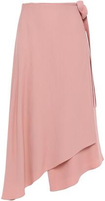 Les Héroïnes Asymmetric Crepe Wrap Skirt