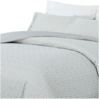 Natural Comfort Luxurious Cotton Duvet Cover Mini Set, Turn/Blue, Quee