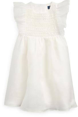 Ralph Lauren Smocked Silk Organza Dress