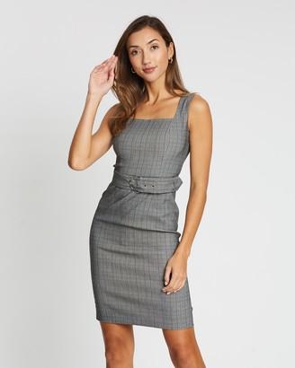 Forcast Jill Check Buckle Dress