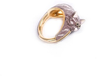Carla Cat Grey Ring