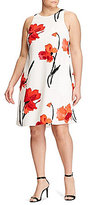 Lauren Ralph Lauren Plus Floral Crepe Shift Dress