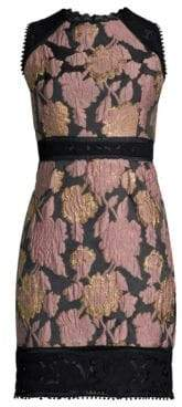 Laundry by Shelli Segal Jacquard Lace Trim Sheath Dress