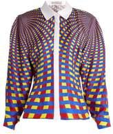 Mary Katrantzou Hecate Spiralite-print silk-twill shirt