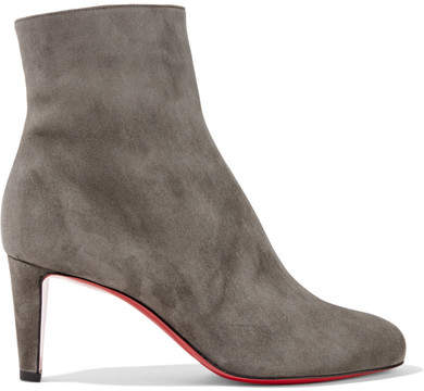 Christian Louboutin Top 70 Suede Ankle Boots - Anthracite