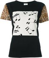Saint Laurent music note print T-shirt - women - Cotton - S