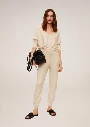 MANGO Modal cotton-blend sweater light/pastel grey - S - Women
