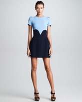 Victoria Beckham Victoria by Satin-Back Crepe Heart Dress