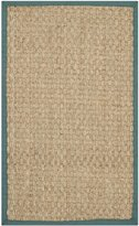 Safavieh Natural Fiber Collection NF114M Natural and Light Blue Seagrass Area Rug, (2-Feet 6-Inch X 4-Feet)