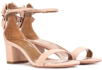 Aquazzura Siena 50 suede sandals