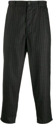 Comme des Garcons Pinstripe Cropped Trousers