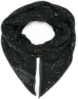 Saint Laurent paint splatter scarf