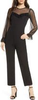 Ali & Jay Dusk Long Sleeve Lace Trim Jumpsuit