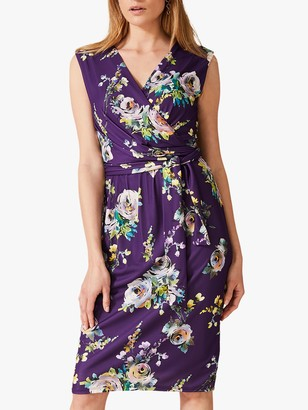 Phase Eight Franchesca Floral Print Dress, Amethyst/Multi