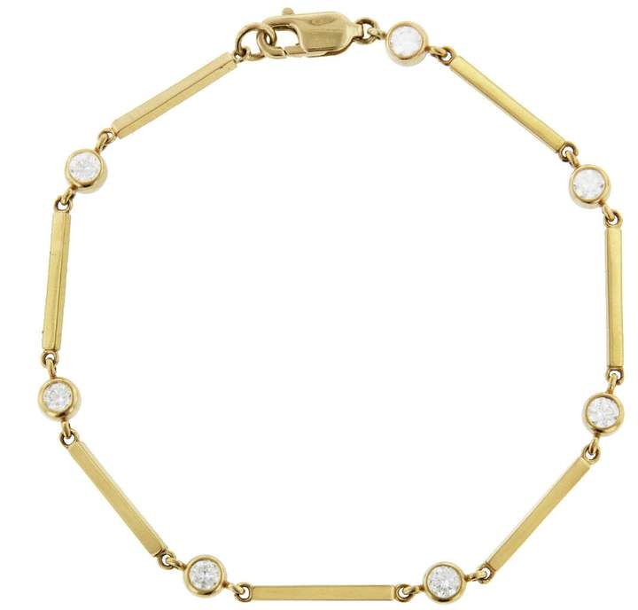 Jennifer Meyer Diamond Bezel Bar Link Bracelet