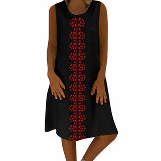 Esailq Women's Blouse Women Dresses ESAILQ Summer Style Feminino Vestido T-Shirt Mini Dress Cotton Casual Dress Short Sleeve V Neck Loose Oversize Tunic Dress Solid Color Plus Size Sundress(Black UK-20/CN-5XL)
