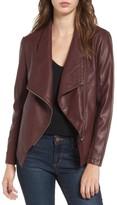 BB Dakota Women's Gabrielle Faux Leather Asymmetrical Jacket