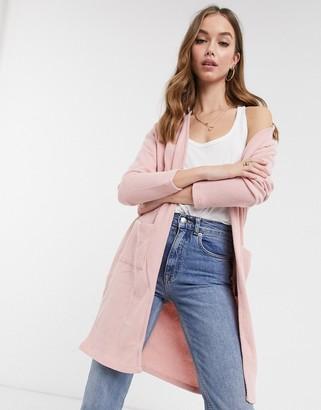 Miss Selfridge longline cardigan in pink
