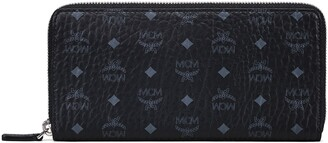 MCM Large Viestos Faux-Leather Zip Wallet