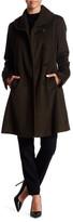 Ellen Tracy Front Button Wool Blend Coat
