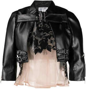 Comme des Garcons Buckle Detail Cropped Jacket
