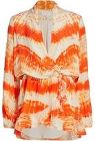 Rococo Sand Tie-Dye Wrap Dress