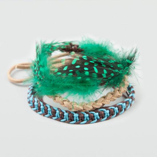 Full Tilt Feather Braid Bracelet Trio