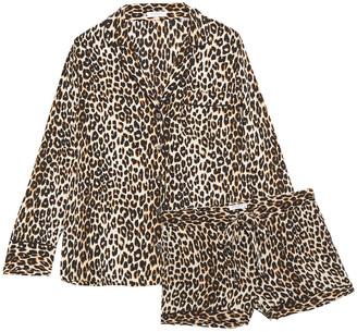 Equipment Lillian Leopard-print Washed-silk Pajama Set