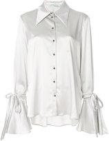 Off-White bow sleeve shirt