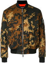 DSQUARED2 camouflage bomber jacket - men - Cotton/Polyamide/Polyester/Viscose - 44