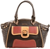 Maddi Coquette shoulder bag with feature pocket and colour block