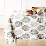 Crate & Barrel Imprint Leaf Tablecloth