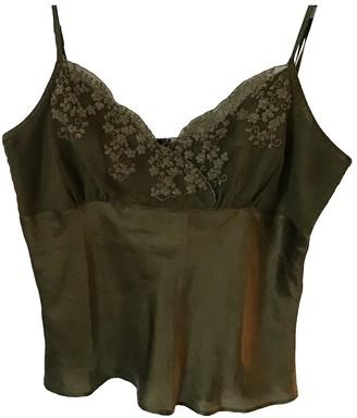 Adolfo Dominguez Khaki Silk Top for Women