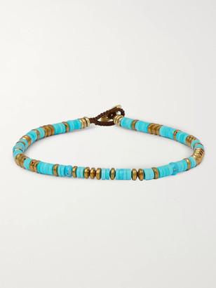 Mikia Turquoise, Hematite And Gold-Tone Beaded Bracelet