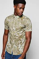Boohoo Short Sleeve Floral Print Shirt