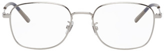 Gucci Silver Rectangular Glasses