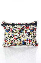 Carolina Herrera For Target Multi Color Print Clutch Handbag