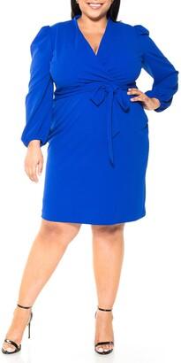 Alexia Admor Aliana Surplice Bubble Sleeve Sheath Dress