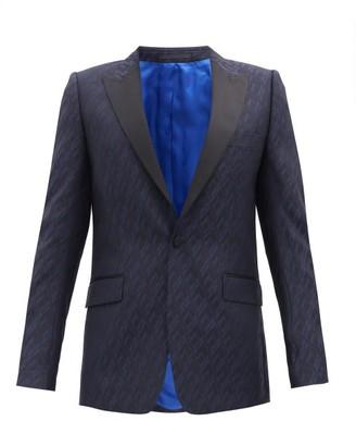 Paul Smith Single-breasted Satin-lapel Soho-fit Wool Jacket - Navy