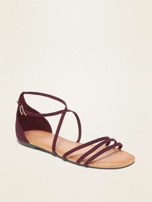 Old Navy Strappy Faux-Suede Sandals for Women
