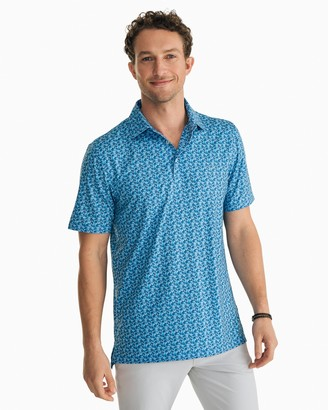 Southern Tide Hibiscus Print Driver Performance Polo Shirt