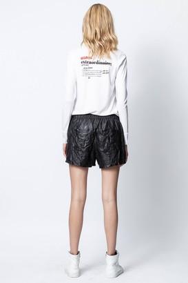 Zadig & Voltaire Definition Amoureuse Cotton Tunisian Collar T-Shirt