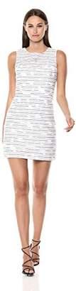 Milly Women's Floral Stripe Burnout Nina Sheath Sleeveless Dress
