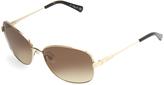 Kenneth Cole New York Gold & Havana Butterfly Sunglasses