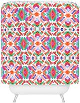 Deny Designs Jacqueline Maldonado Watercolor Boho Dash 3 Shower Curtain