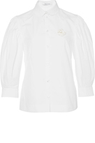 Simone Rocha Cotton Poplin Puff Sleeved Shirt