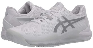 Asics Gel-Resolution 8 (White/Pure Silver) Men's Tennis Shoes
