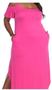 White Mark Plus Size Lexi Maxi Dress